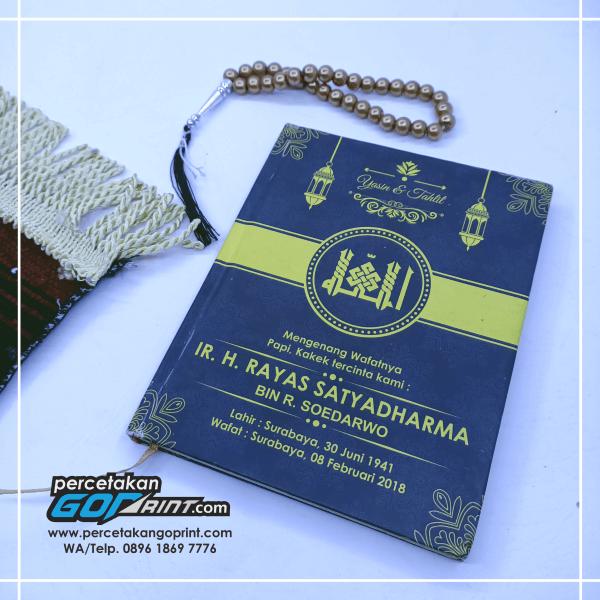 Buku Yasin & Tahlil Hardcover Custom 176 Halaman HVS