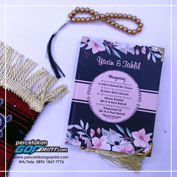 Buku Yasin & Tahlil Hardcover Custom 128 Halaman HVS