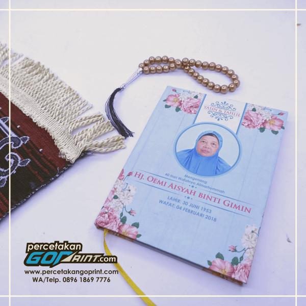 Buku Yasin & Tahlil Hardcover Custom 176 Halaman Artpaper